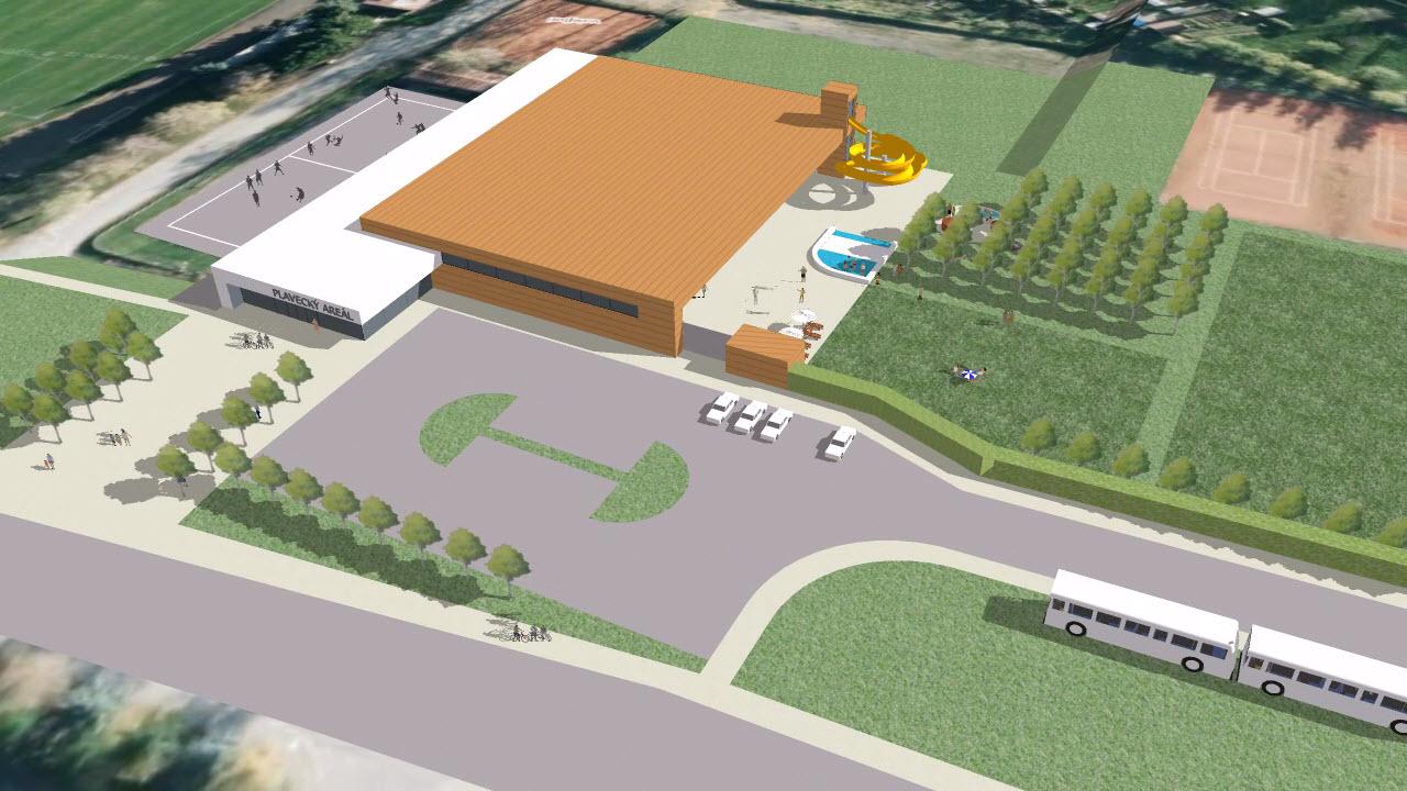 Bazén – nová rada města, nové řešení