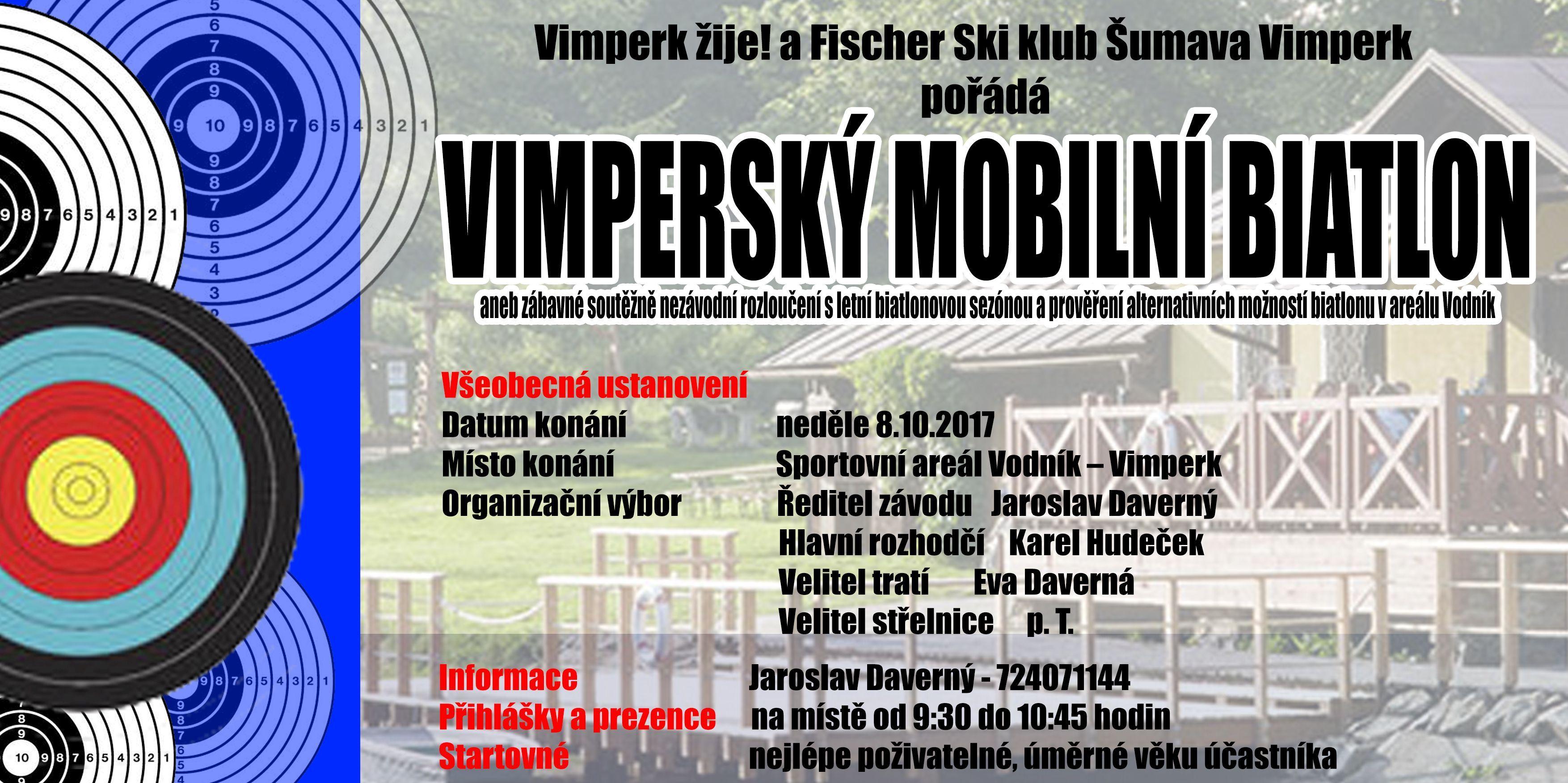 Pozvánka na Vimperský Mobilní Biatlon